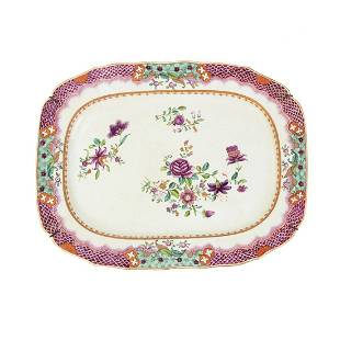 18th C. Chinese Export Famille Rose Porcelain Platter