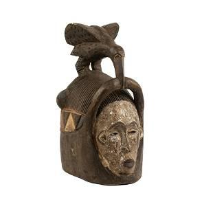 African Cote DIvoire Senufo Bird Helmet Mask