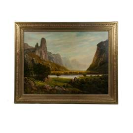 Albert Bierstadt Signed Oil on Canvas