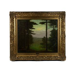 Charles Warren Eaton 'Woodland' Signed Oil on Canvas