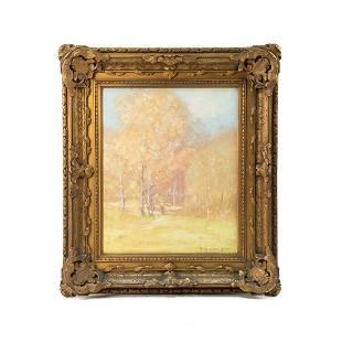 Thomas Sidney Moran Signed Oil on Canvas c. 1909