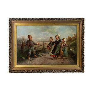 Fritz Fig Signed Oil on Board