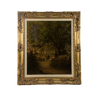 William Rickarby Miller Signed Oil on Canvas c. 1851