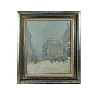 Johann Berthelsen Signed Oil on Canvas