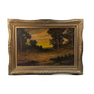 After Ralph Blakelock Signed Oil on Canvas