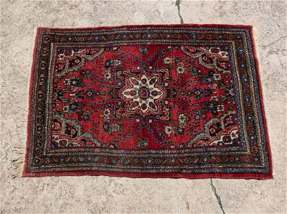 Persian Heriz Red and Blue Area Rug
