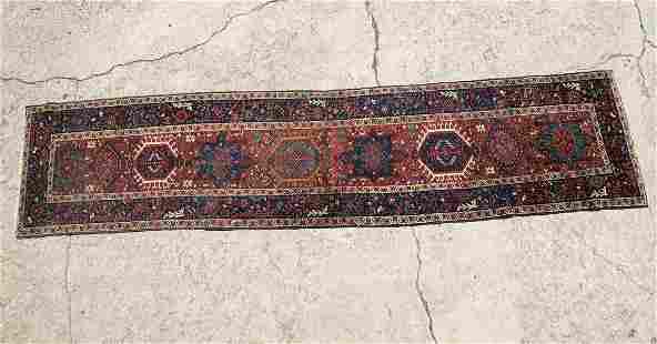 Kazak, Caucasus Hand Knotted Runner Rug