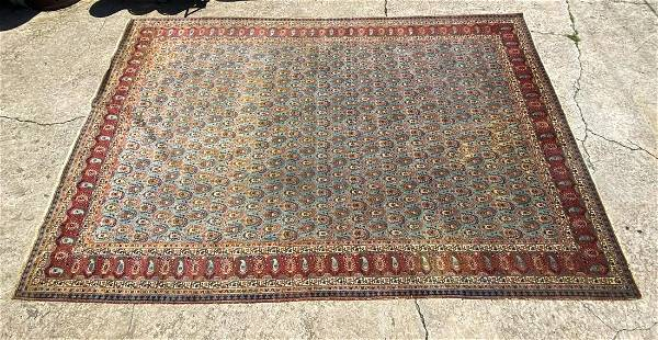 Early 19th C. Persian Tabriz Large Area Rug