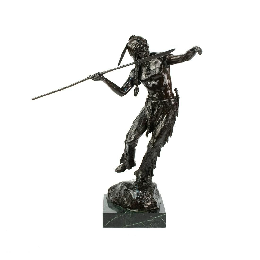 "Elie Hazak Signed ""Hunter"" Bronze Sculpture - 10/99"