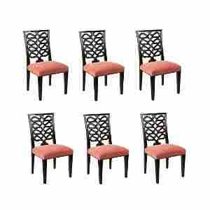 (6) Six Dessin Fournir Ribbon Back 1002-S Chairs