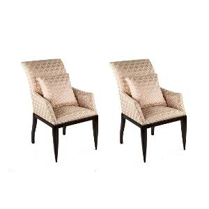 Pair of Dessin Fournir Werth 1002-S Armchairs