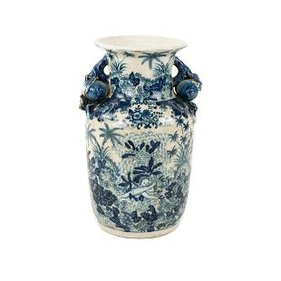 Antique Chinese Blue and White Urn Vase