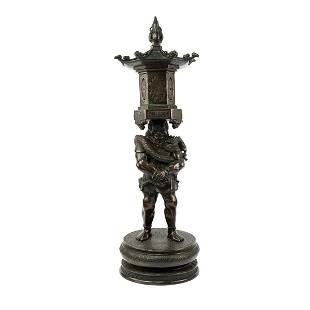 Japanese Bronze Ryutouki Buddhist Deity Figure