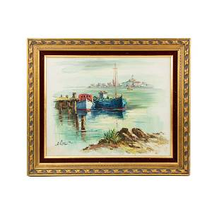 A. Simpson Signed Oil on Canvas