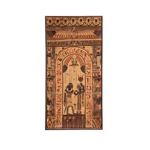 TOC Egyptian Revival Applique Tapestry Large Panel