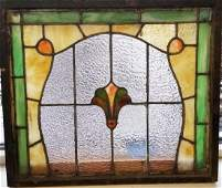 Victorian American Stained & leaded glass window