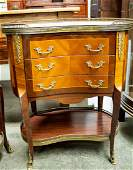French style inlaid marble top commode Stand