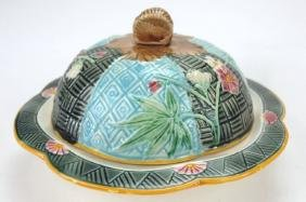 Wedgwood St. Louis Majolica butter dish