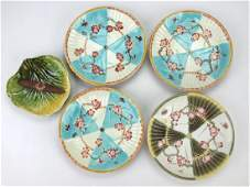 Wedgwood Majolica set of 46 12 fan plates and