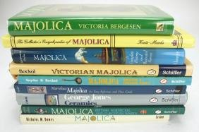 Majolica lot of 9 reference books: Karmason, Dawes,