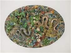 Geoffrey Luff contemporary Palissy Majolica monumnet