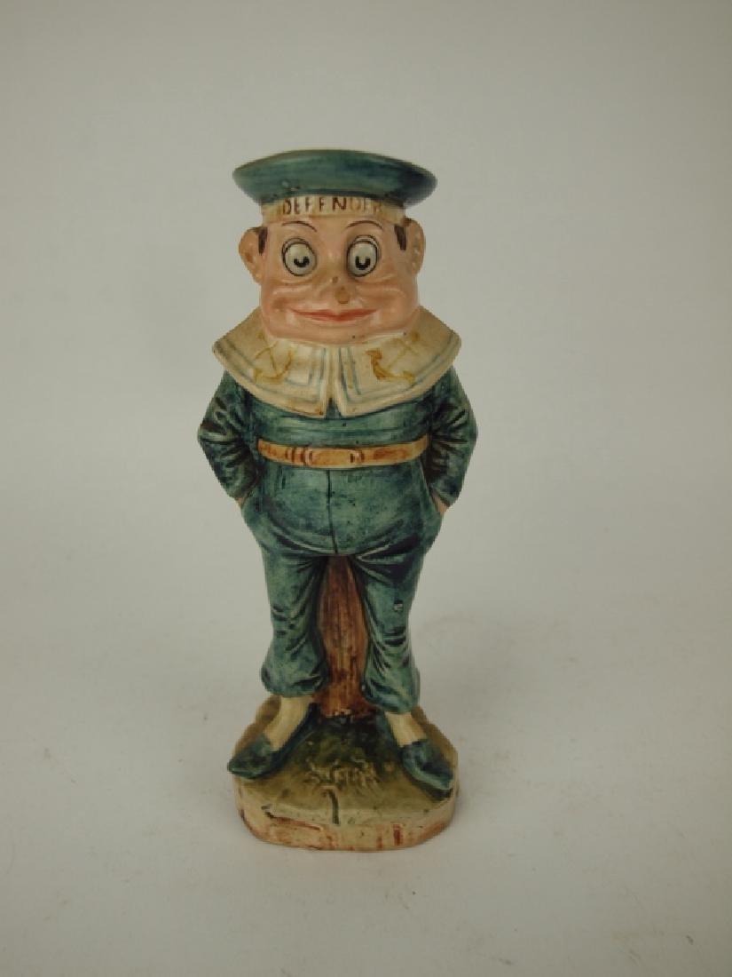 Palmer Cox Brownie Majolica sailor candle stick, 7