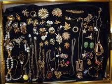 Large counter top showcase with costume jewelry: