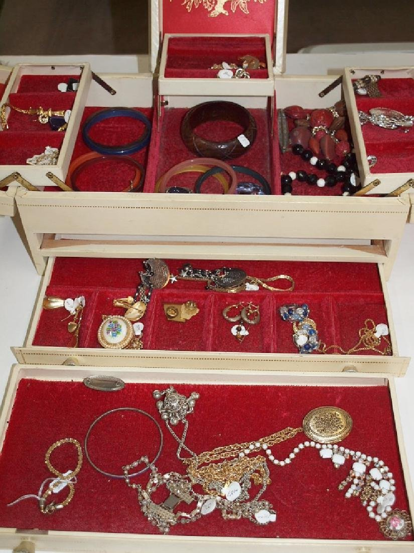 large jewelry box and contents