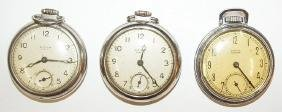 Lot of 3 Westclox pocket watches