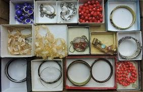 Lot of assorted necklaces & bracelets