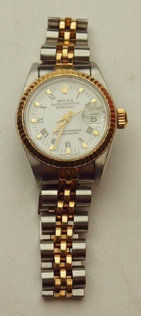 Rolex oyster perpetual date adjust wrist watch,