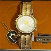 Bulova Accutron mens wrist watch with original box,