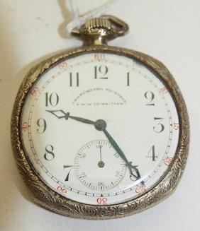 Waltham Chronometro Victoria o.f. pocket watch, runs