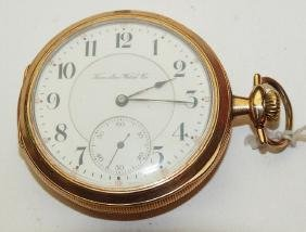 Hamilton 16s, 21j, o.f. pocket watch, hairline to face,