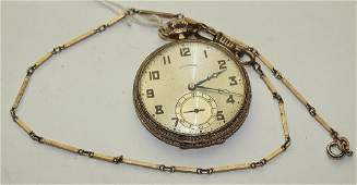 Illinois 12s 17j of pocket watch with white gold
