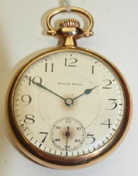 South Bend 16s, 19j, #219 o.f. pocket watch, runs
