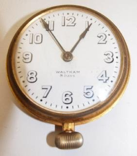 Waltham 8 day oversized wall hanging pocket watch