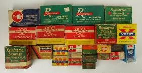 Lot of assorted ammunition in old boxes, full and