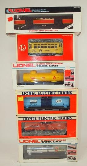 Lionel lot of 6 cars: Illinois Central baggage car