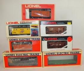 Lionel lot of 7 cars: Milwaukee caboose 6-9169, B & LE
