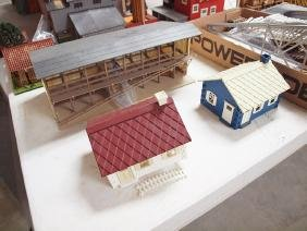 Large lot of train layout buildings and accessories