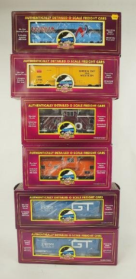 MTH lot of 6 train cars