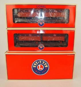Lionel Milwaukee Road two pack flat bed with piggy back