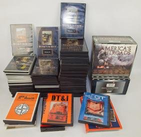 """Huge lot of train CD & VCR tapes """"Dream Plan Build"""","""