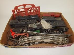 Lionel & Mary lot of old train engines, cars, and track