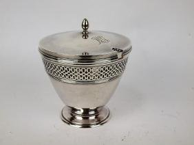 Tiffany & Co sterling silver marmalade with glass