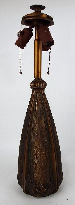 "Bradley & Hubbard lamp base, 24""h"