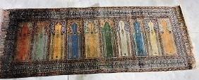 """Estate Oriental rug Turkish prayer rug, 7'6"""" x 2'9"""""""