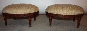 Pair of ladies walnut foot stools