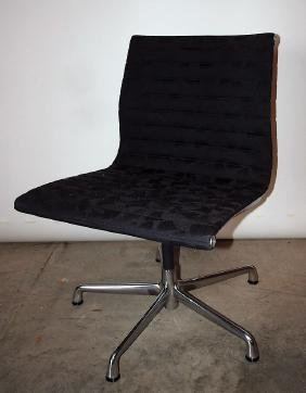 Charles Eames for Herman Miller chrome swivel chair